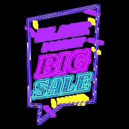 Schwarzer Freitag Verkauf aus Neonabzeichen