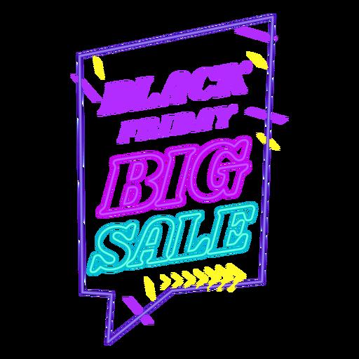 Black friday sale off neon badge