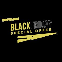 Emblema da oferta especial Black Friday