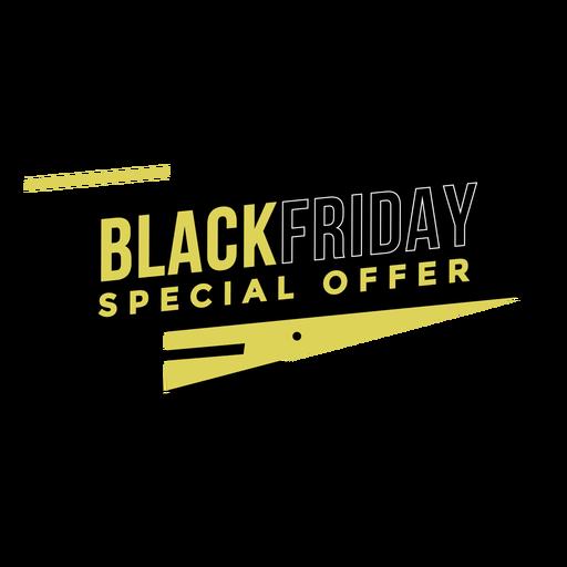 Insignia de oferta especial de viernes negro