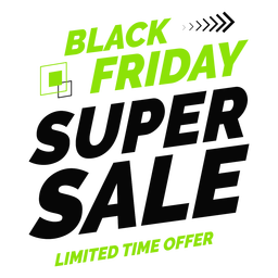 Black friday super sale badge