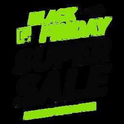 Schwarzer Freitag Super Sale Abzeichen