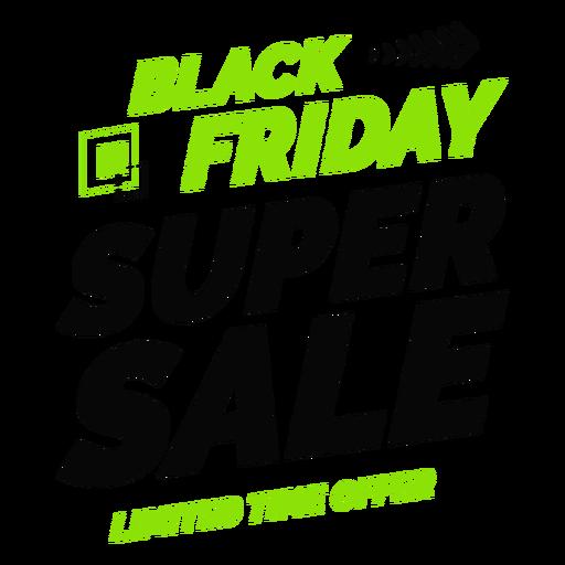 Insignia de super venta de viernes negro Transparent PNG