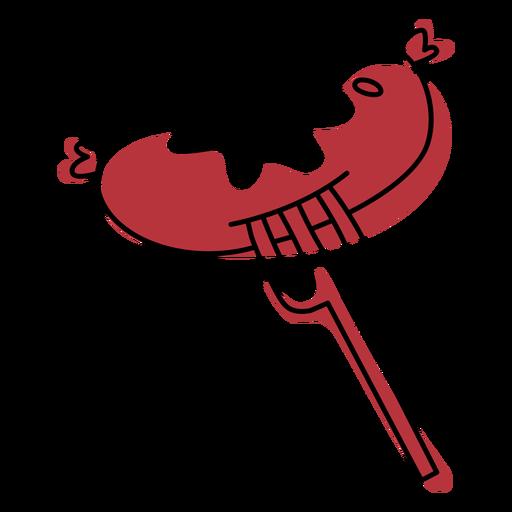 Trazo de color de comida de hoguera bangers