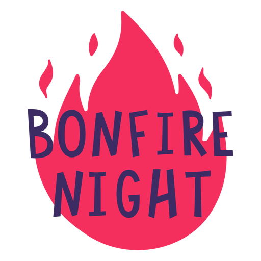 Bonfire night holiday lettering