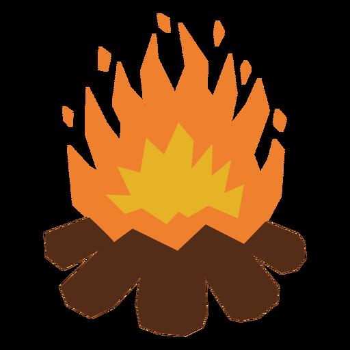 Bonfire flames flat