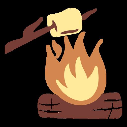 Bonfire flames smore flat