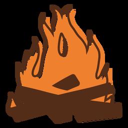 Lagerfeuer flammender Farbstrich