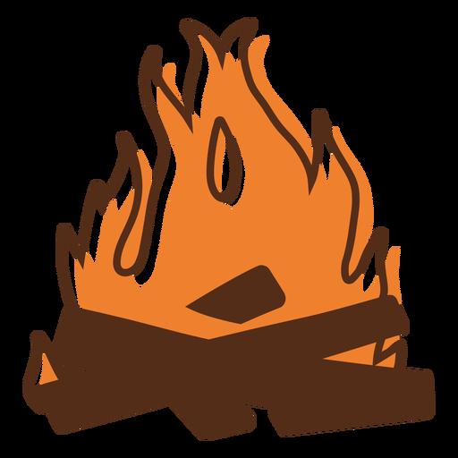 Bonfire flaming color stroke