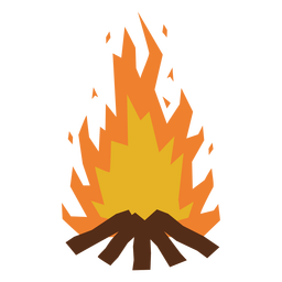 Lagerfeuer flammt flach