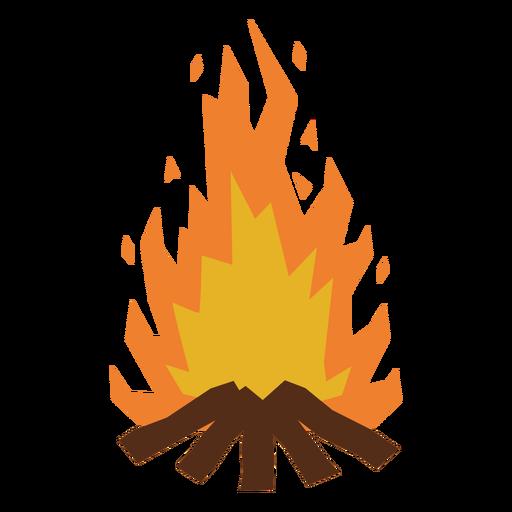 Bonfire flaming flat