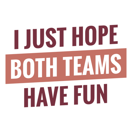 Both teams have fun lettering Transparent PNG