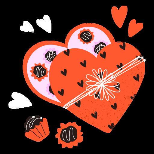 Caja de chocolates valentines doodle