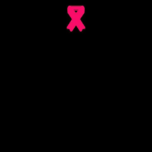 Breast cancer awareness syringe stroke