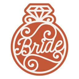 Bride ring badge