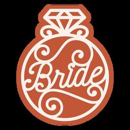Emblema do anel de noiva