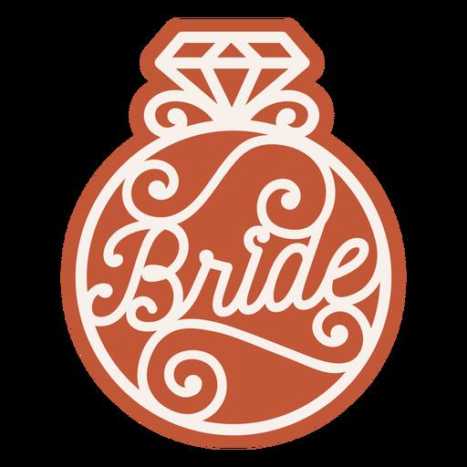 Insignia de anillo de novia