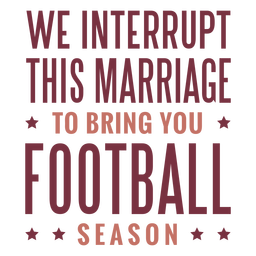 Bring you football season lettering