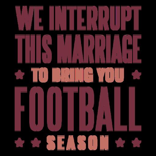 Bring you football season lettering