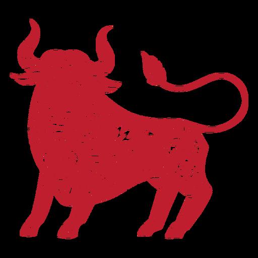 Toro papercut año nuevo chino