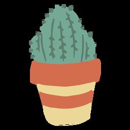 Planta de cactus plana