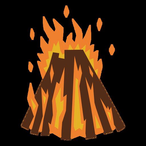Campfire flames flat