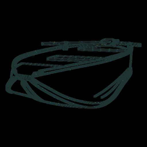 Canoe vesse stroke Transparent PNG