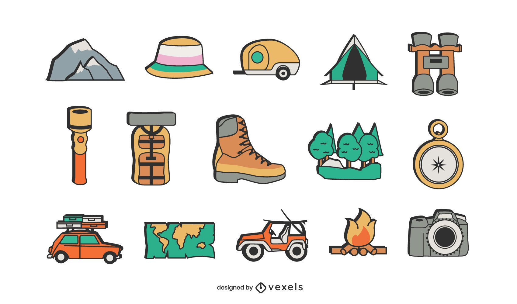 Camping elements set