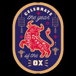 Celebra el año de la insignia del buey