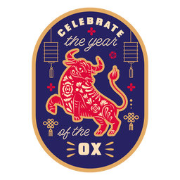 Celebrate the year of the ox badge