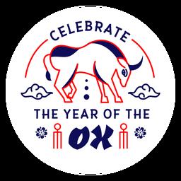 Celebra la insignia del año buey 2021
