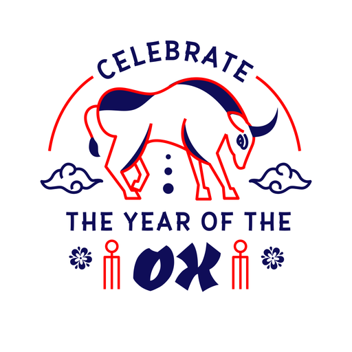 Celebrate the year ox 2021 badge