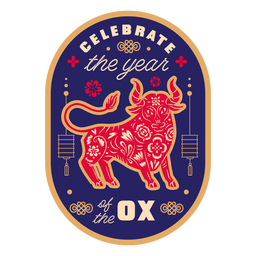 Celebrate the year ox badge