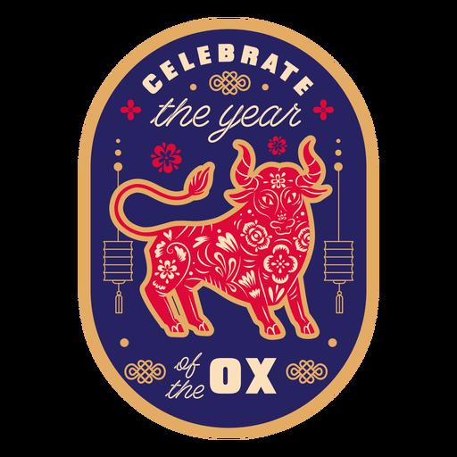 Celebra la insignia del buey del año