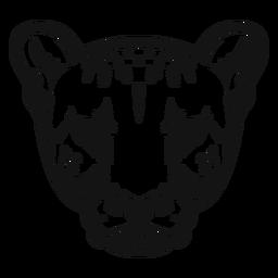 Contraste alto de cabeza de guepardo