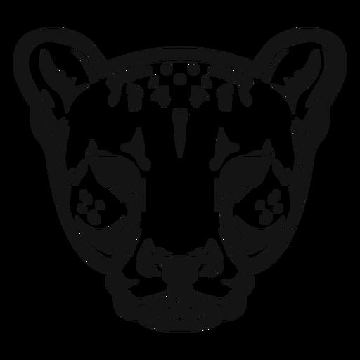 Cheetah head high constrast Transparent PNG