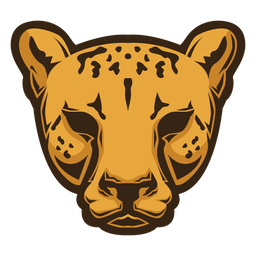 Logotipo da cabeça de chita