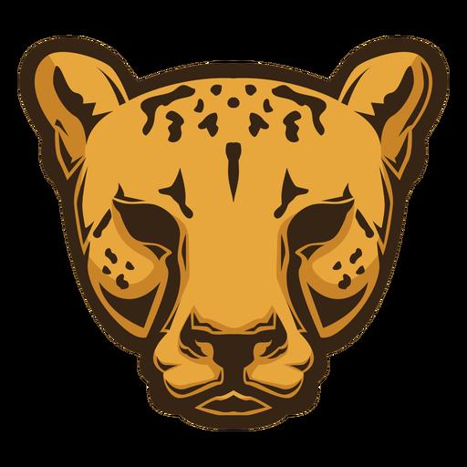 Logotipo de cabeza de guepardo Transparent PNG
