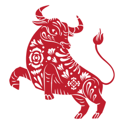 Chinese new year bull papercut