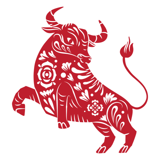 Chinese new year bull papercut Transparent PNG