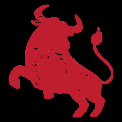 Papercut de toro de año nuevo chino