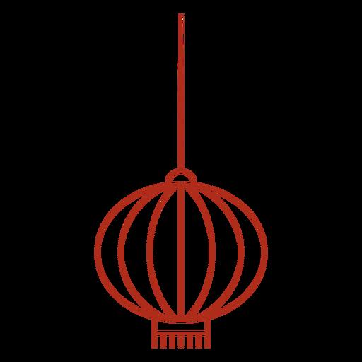 Chinese lantern stroke