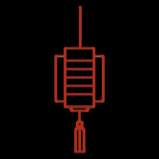 Chinese lantern tassel stroke