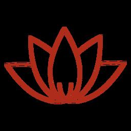 Chinese lotus flower stroke
