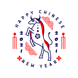 Chinese new year 2021 badge