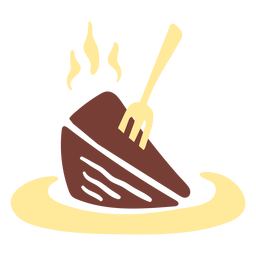 Chocolate cake piece flat
