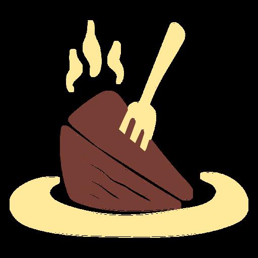 Chocolate cake piece flat