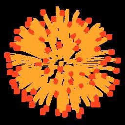 Trazo de explosión de fuegos artificiales coloridos