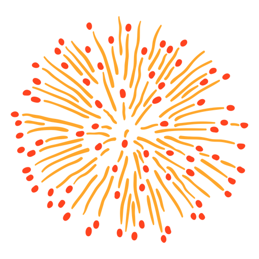 Colorful firework explosion stroke