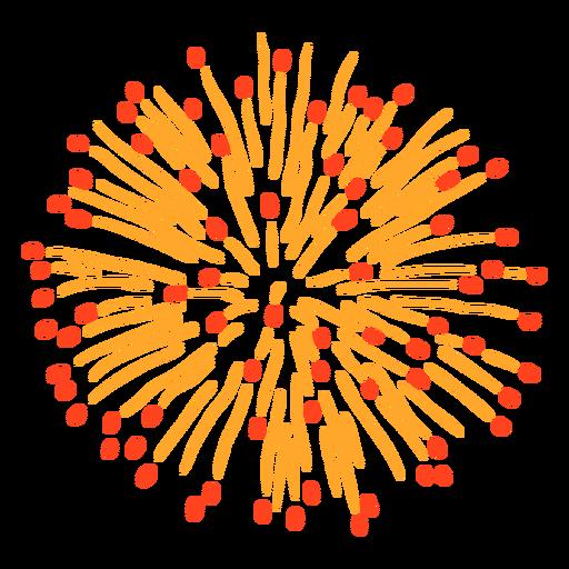Golpe de explosão de fogos de artifício coloridos